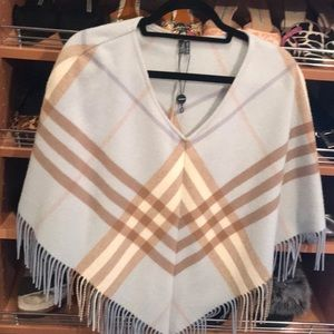 Burberry light blue poncho